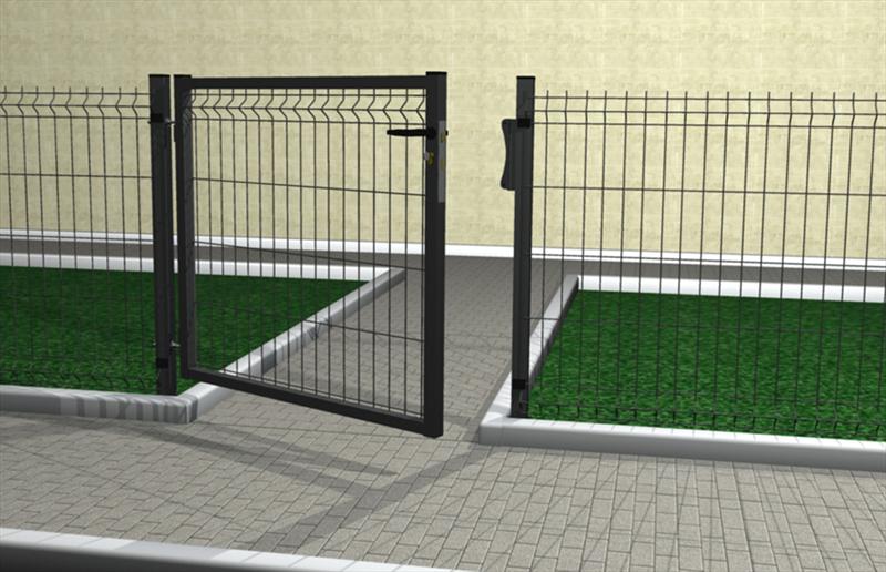 Cancello per recinzione modulare ferro bulloni italia for Cancelletto per cani da esterno